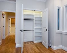 Coat closet design ideas hallway closet ideas hall closet storage how to organize a closet hall Front Hall Closet, Hallway Closet, Kid Closet, Closet Bedroom, Closet Doors, Master Closet, Closet Office, Master Bedroom, Wardrobe Small Bedroom