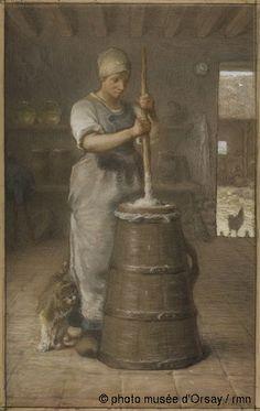 La baratteuse, vers 1866, pastel et crayon noir sur papier brun et châssis entoilé, H. 1.22 ; L. 0.855, musée d'Orsay, Paris, France ©photo musée d'Orsay / rmn