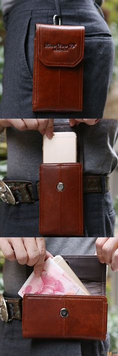 US$21.99 + Free shipping. Casual Phone Bag, Fashion Phone Pouch, Men Bag, Vintage Bag, Genuine Leather Bag, Multifunctional Waist Bag. Material: Genuine Leather. Color: Brown. 2 Types To Fit Your Style.