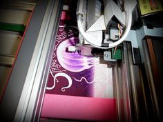 Sneak peek at this super pink-tastic design! Go printer! Go!