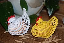 kurki szydełkowe, zajączki szydełkowe, aniołki (5000096… na Stylowi.pl Free Crochet Doily Patterns, Crochet Placemats, Crochet Baby Dress Pattern, Crochet Doilies, Holiday Crochet, Easter Crochet, Crochet Crafts, Crochet Projects, Crochet Chicken