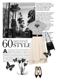 """60 econd Style: Asymmetric Skirt"" by translucidbutterfly ❤ liked on Polyvore featuring Tiffany & Co., Miguelina, T By Alexander Wang, Jimmy Choo, Thomas Wylde, Sam Edelman, Alexis Bittar, asymmetricskirts and 60secondstyle"