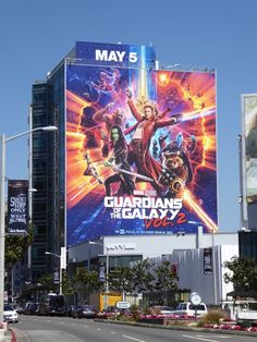 Giant Guardians of the Galaxy Vol. 2 movie billboard