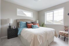 Lovely styling by our talented design team! Pocket Neighborhood, Oak Park, Beautiful Park, Townhouse, Comforters, Amber, Blanket, Bedroom, Life