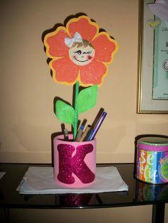 Portalápiz de Flor