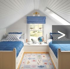 Attic Turned Kids& Bedroom: & I& their favorite! I got the skylight!& (Photo: Julian Wass) An Attic Turned Ultimate Kids& Bedroom Suite Source by. The post An Attic Turned Ultimate Kids& Bedroom Suite appeared first on Mack Makeovers. Budget Bedroom, Kids Bedroom, Bedroom Decor, Childrens Bedroom, Bedroom Bed, Kids Rooms, Dormer Bedroom, Rec Rooms, Bunk Rooms