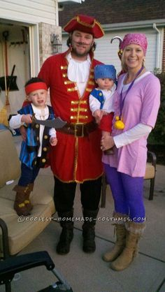 We are so doing this! Coolest Jake and the Neverland Pirates Family Costume.