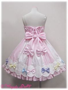 Angelic Pretty / Jumper Skirt / Colorful Ribbons JSK