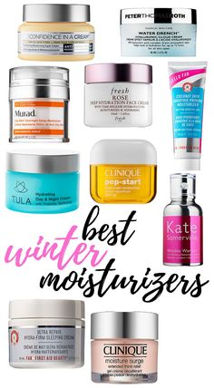 The cold, winter weather takes a beating on our skin. It is during this  time of the cold winter months and dry heat that we need to take extra  special care of our skin and give it that deep hydration, nourishment and  comfort it needs. There are a lot of great targeted skin care products that  will get you through the winter. Here are my top ten winter moisturizers  (many of them new) to get your skin hydrated and back to optimal condition.