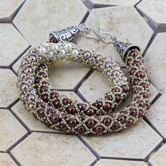 Best Seed Bead Jewelry  2017  Anastasia Necklace | Prima Bead  free pdf and supply list  Seed Bead Tutorials