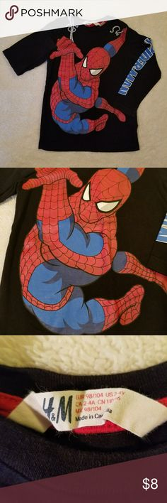 BOGO 1/2 OFF H&M Spiderman long sleeve tee BOGO 1/2 PRICE! ALL KIDS CLOTHING!  Spider man long sleeve tee by H&M  In excellent pre-owned condition. Size 2-4 years fits 2-3t best!.  🌹Shop with Confidence  🌹Ships Daily / Next business day with 💖 🌹 Bundle to save $ 🌹 Offers Welcome H&M Shirts & Tops Tees - Long Sleeve