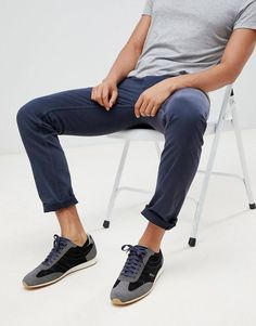 Find the best selection of BOSS Shino slim chinos in navy. Shop today with free delivery and returns (Ts&Cs apply) with ASOS! Slim Chinos, Fashion Online, Latest Trends, Capri Pants, Boss, Sporty, Navy, Clothes, Shopping