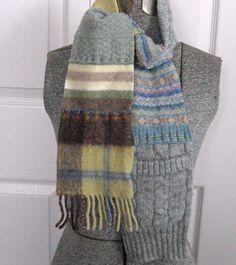 Recycled Sweater CHILD PATCHWORK SCARF by heartfeltbaby on Etsy, $25.00