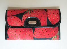 Strawberry Clutch Wallet Purse Vintage 1970s by looseendsvintage, $24.00
