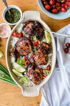 Sticky Jalapeno and Cherry Grilled Chicken is a low-stress, utterly simple dinner recipe you MUST make this summer with a killer spicy-sweet marinade. #jalapeno #grilledchicken #chickenrecipe #stickychicken