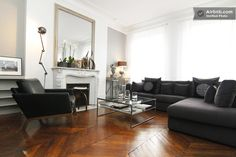 Large Charming apartment, 90 sm in Paris. This ain't bad. Beautiful Space, Paris Accommodation, Cosy, Natural Light, Flats, Spaces, Furniture, Holiday, Home Decor