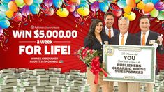 Hopefully it will mean the month you won a PCH sweeps! Here's Your PCH Schedule – New Sweepstakes For October! Instant Win Sweepstakes, Online Sweepstakes, Wedding Sweepstakes, Travel Sweepstakes, Win For Life, One Million Dollars, Publisher Clearing House, Congratulations To You, Winning Numbers