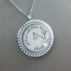 Harry Potter Inspired Locket, Floating Charm Locket Necklace - Memory Locket