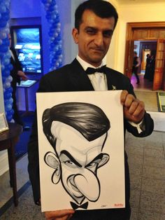 RAF Cranwell Xmas Ball caricatures