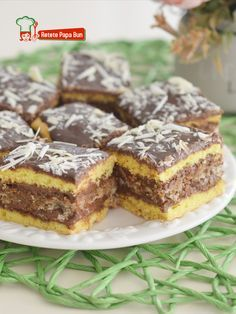Date Recipes Baking, Cake Recipes, Dessert Recipes, Romanian Food, Cream Cake, Nutella, Deserts, Good Food, Food And Drink