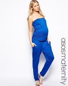 ASOS Maternity Exclusive Bandeau Jumpsuit With Peg Pant