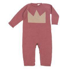 Mono tricot corona bebé fashion kids moda infantil baby