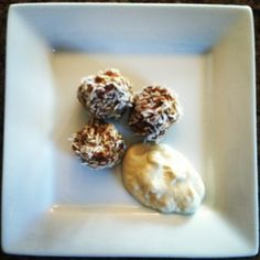 Good Golly, Miss Dolly : Raw Carrot Cake Balls with Pineapple Cashew Cream
