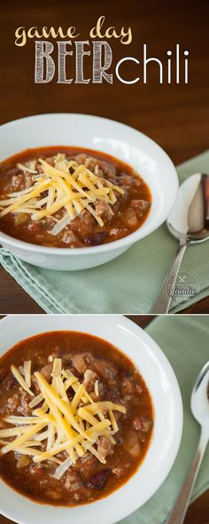 The next time you enjoy watching a big game, be sure to prepare a batch of this Game Day Beer Chili made with fresh tomatoes in the slow cooker.
