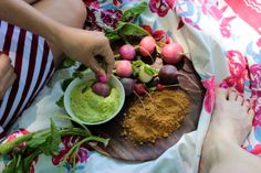 Radish Snack with Avocado Crema and Spicy Pepita Powder   Big Sis Little Dish