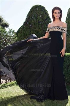 Trumpet/Mermaid Off-the-shoulder Sweep/Brush Train Chiffon Evening Dress