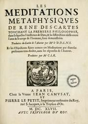 a presentation of descartes meditation on first philosophy In 1639 descartes began writing the meditations and  by contrast, the synthetic style of presentation begins by asserting first.