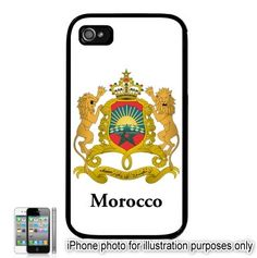 Morocco Moroccan Coat of Arms Flag Emblem iPhone 4 4S by BlingSity, $13.95 iPhone 4/4S Case    Hard Shell Case  with appropriate slots for easy access to controls.    Also works with Verizon or AT iPhones    Case covers back and sides. Does NOT cover the front. Black White or Clear around sides- Your Choice    Customize your iPhone and Looks great on any iPhone 4    High Quality - Makes a Great Gift