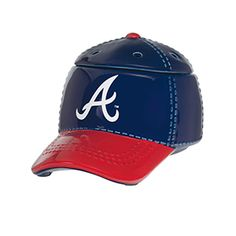"""ATLANTA BRAVES™ MLB SCENTSY WARMER It's hats off to America's favorite pastime with our NEW Major League Baseball™ Collection. These officially licensed warmers are """"stitched"""" with your team's logo and look great next to the game ball on your shelf. Atlanta Braves, Atlanta Baseball, Major Baseball, Baseball Cap, Braves Baseball, Baseball Season, Mlb, Wax Warmers, Favorite Pastime"""