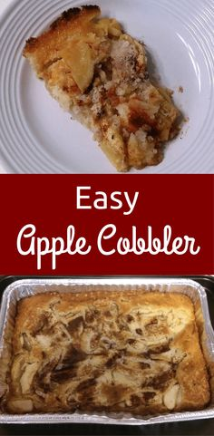 This easy apple cobbler recipe produces a buttery, crispy around the edges and melt in the mouth middle cobbler that can be used with fresh fruits. Apple Deserts Easy, Apple Recipes Easy Quick, Apple Pie Recipe Easy, Quick Easy Desserts, Quick Easy Meals, Apple Cobler Recipe, Apple Cobbler Easy, Apple Cobbler Bisquick Recipe, Bisquick Recipes