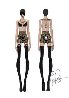 58715 drawing 1 original Rihanna x Givenchy
