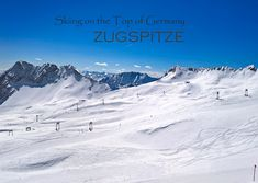 Skiing on the Top of Germany - Zugspitze. Over 4 meters of finest powder snow. A fantastic day and a great view. #skiing #top #germany #zugspitze #powder #snow # sun #fun #fantastic #day #view #great #europe