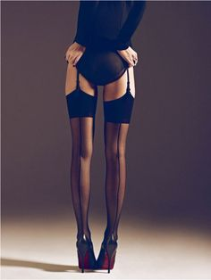 seamed stockings! Love these Papi