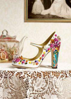 Dolce & Gabbana Women's Accessories Collection Winter 2016-gorgeous jewelled heels