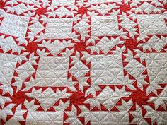 Love red and white quilts
