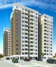 O OÁSIS RESIDENCE, condomínio fechado composto de 03 torres, cada uma com 13 pavimentos tipo, sendo o térreo sobre pilotis e 12 pavimentos tipos. Com 06 apartamentos por andar, temos um total de 216 unidades residenciais - Immobile Arquitetura