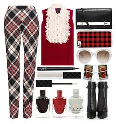 """""""London Bridge - Top Set 11/14/16"""" by juliehalloran ❤ liked on Polyvore featuring Anna Sui, Alexander McQueen, Casetify, Gucci, Givenchy, Polaroid and NARS Cosmetics"""