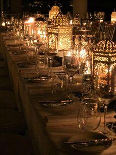 Gorgeous dinner table setting