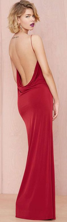 Backless red gown ~ CE♥