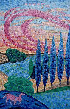 Dans Le Pré Mosaic Tile