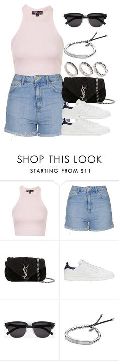 """Style #10859"" by vany-alvarado ❤ liked on Polyvore featuring Topshop, Yves Saint Laurent, adidas Originals, Michael Kors and ASOS"