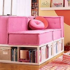 I have a bench like this in my bedroom, I think it would look cool with a real cushion instead of a pillow.