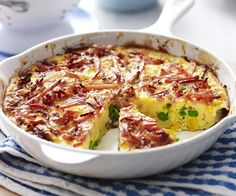 This tasty bacon, pea and corn frittata also uses only 4 ingredients and is good to go in under half an hour. This tasty bacon, pea and corn frittata also uses only 4 ingredients and is good to go in under half an hour. Cold Lunches, Make Ahead Lunches, Lunches And Dinners, Frittata Recipes, Bacon Recipes, Potato Recipes, Cooking Recipes, Egg Recipes, Cooking
