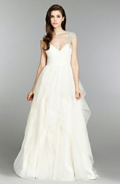 Sweetheart A-Line Wedding Dress  with Natural Waist in Silk. Bridal Gown Style Number:32788960