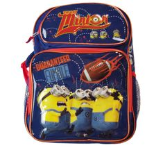 Minions TEAM MINIONS 16' Backpack in Navy/Orange * See this great product. (This is an affiliate link) #Bagpacks