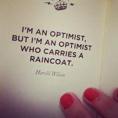 Optimist with a Rain Coat
